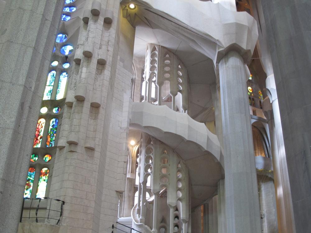 Windows and stairs at Sagrada Familia, Barcelona