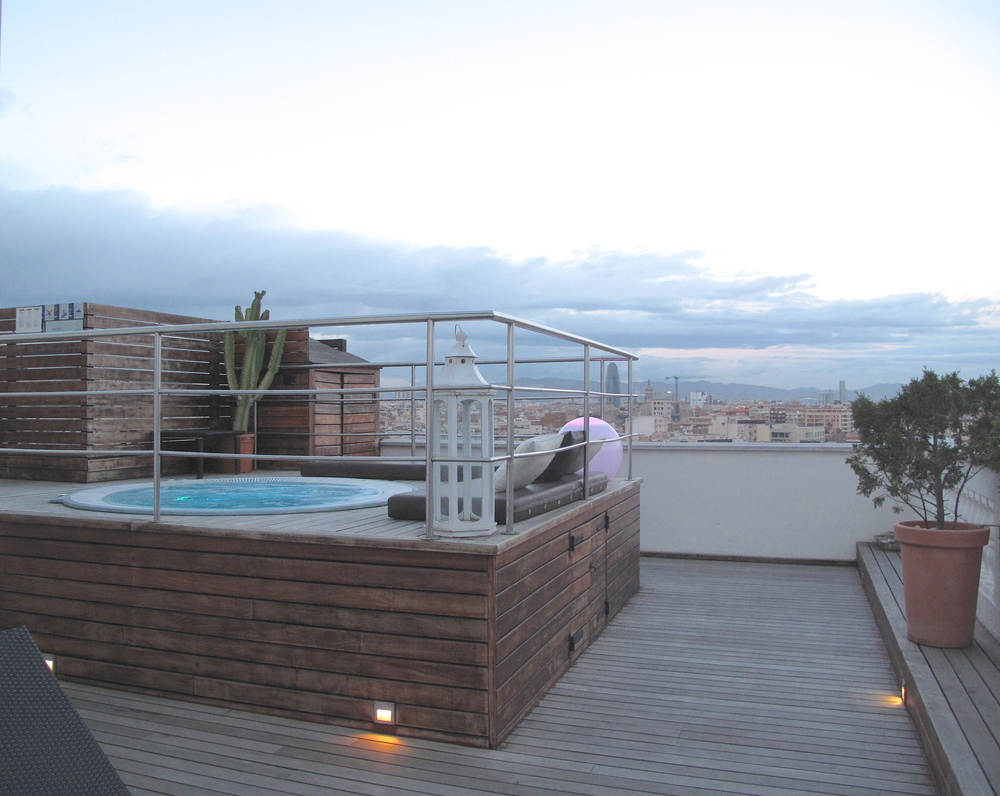 Sneaking into the rooftop spa at a hotel in the heart of Barcelona