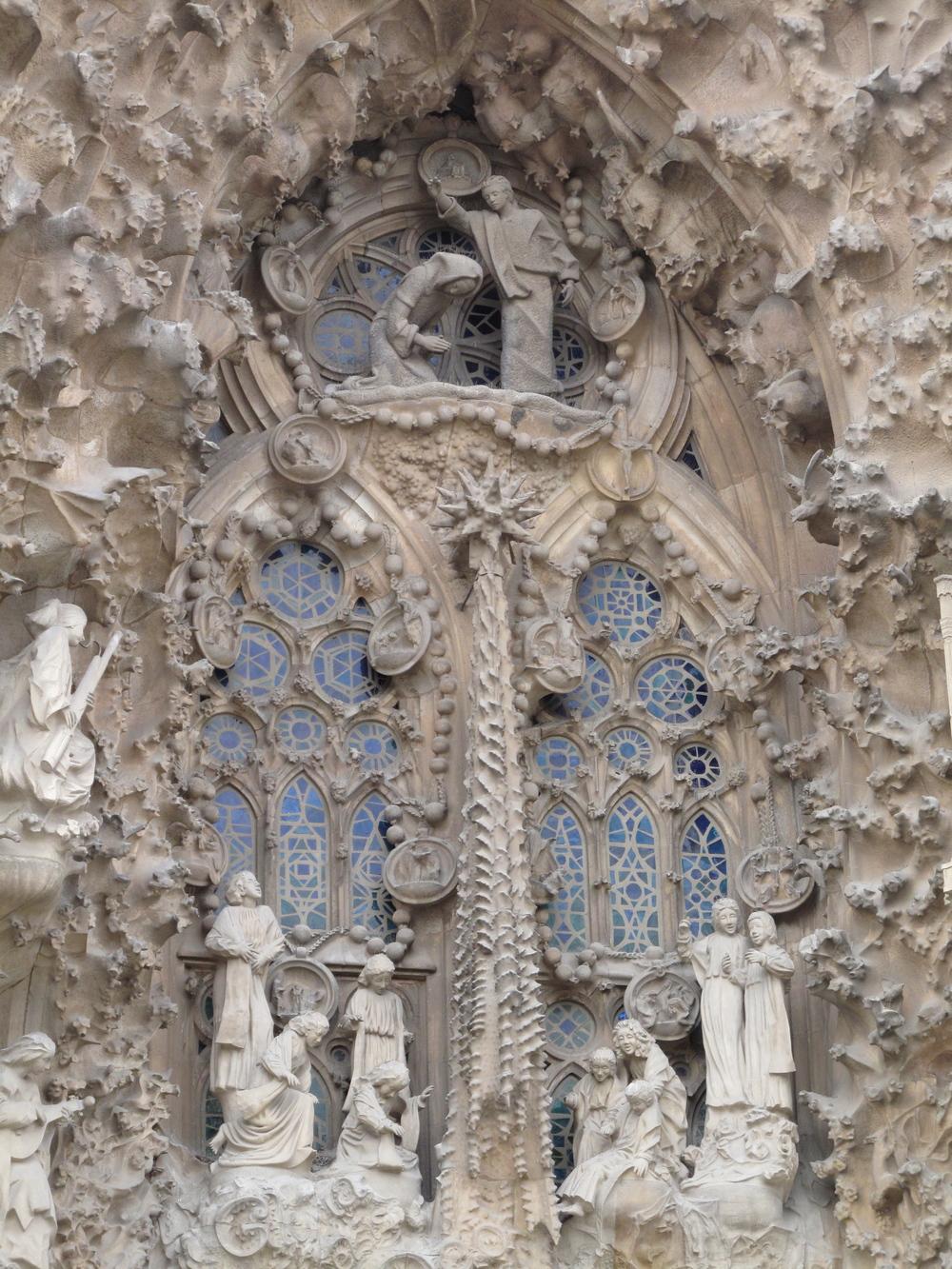 Façade at Gaudí's Sagrada Familia