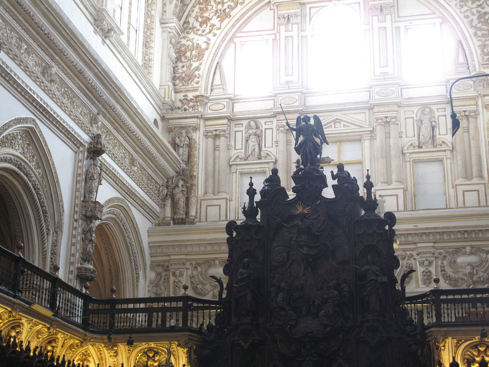 Carvings of St Raphael in the Cathedral of Córdoba