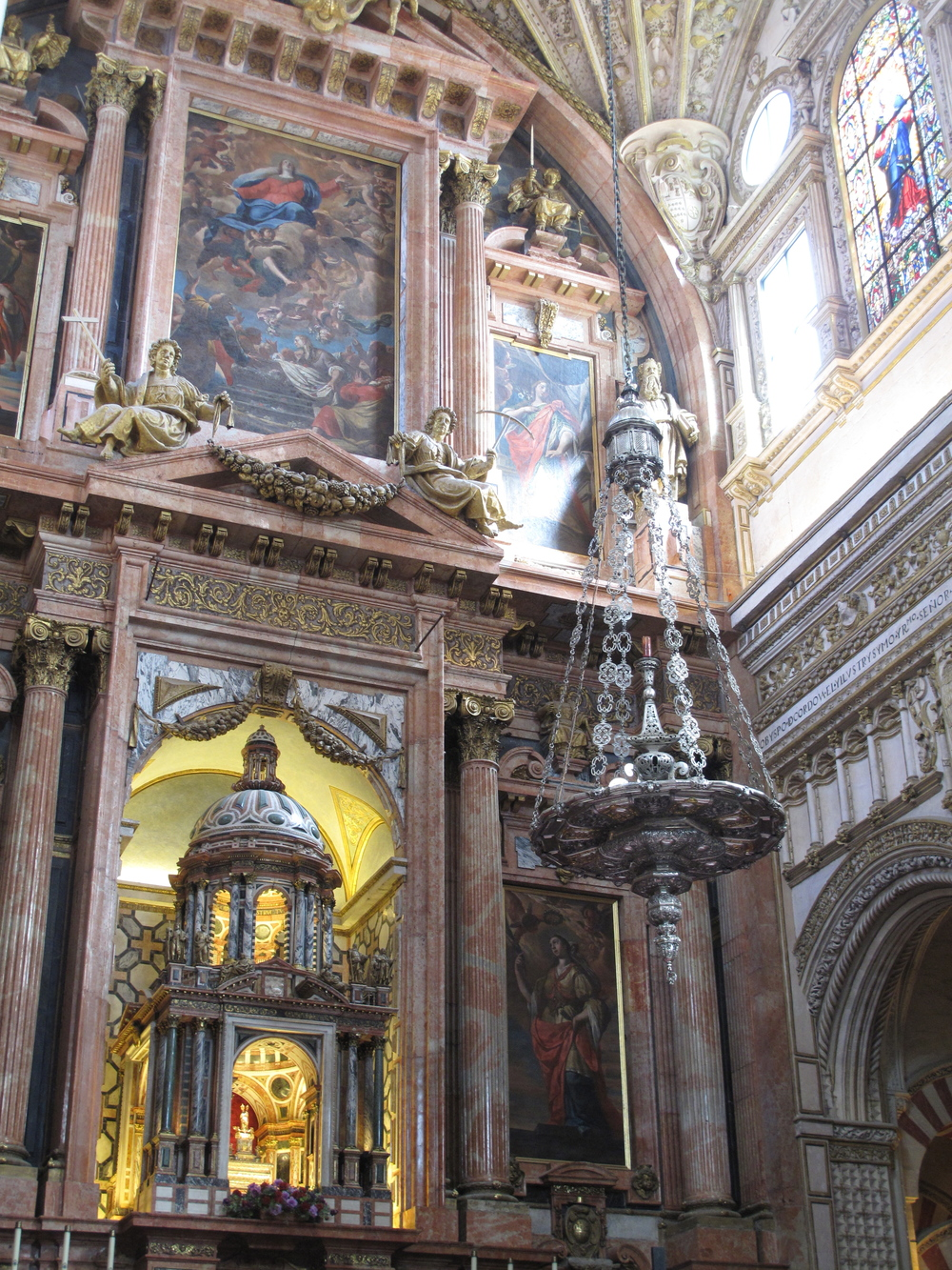 Cathedral of Córdoba - the Christian part of the cathedral, with rich decoration