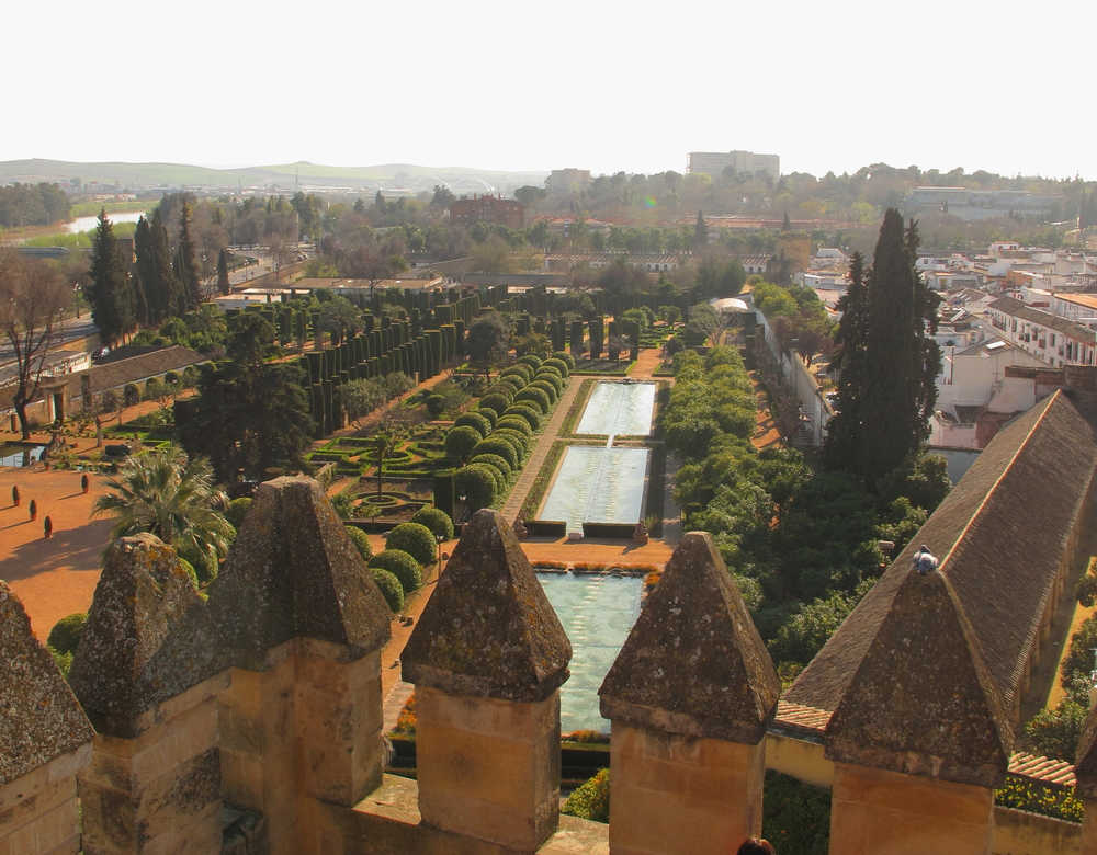 View of the lake from the tower of the Alcazar, Córdoba