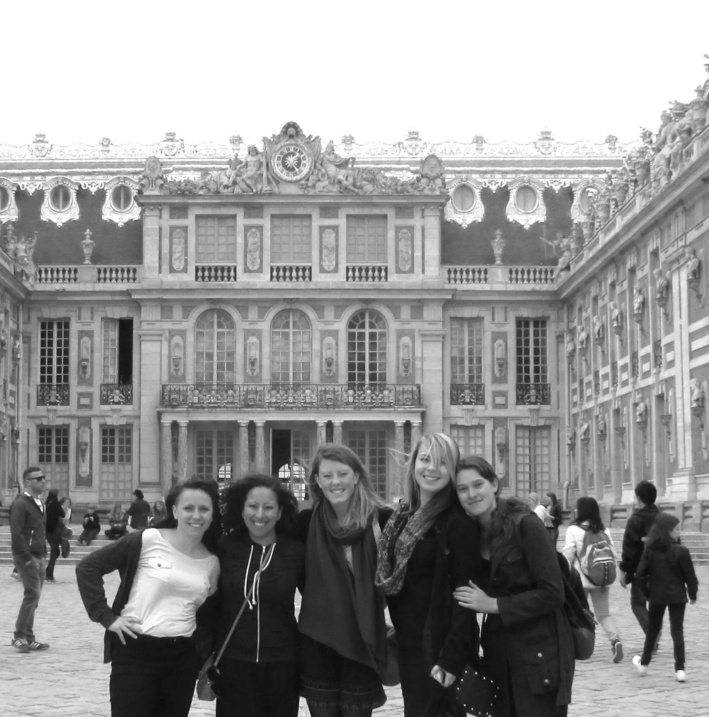 Me and the gang at the palace of Versailles