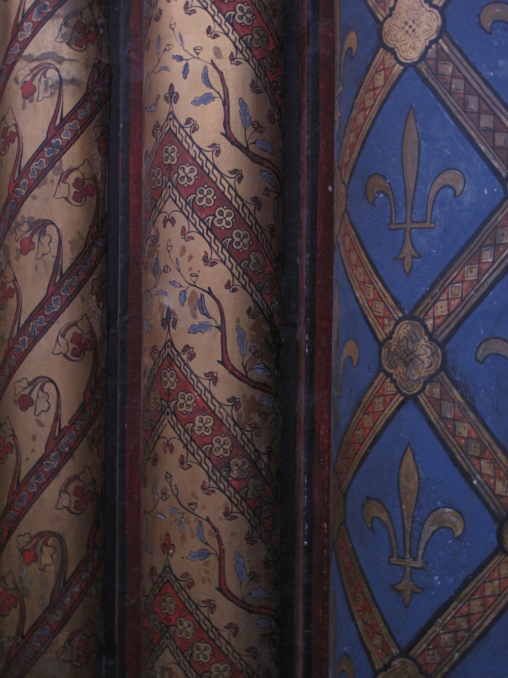 Painted walls at St Chapelle