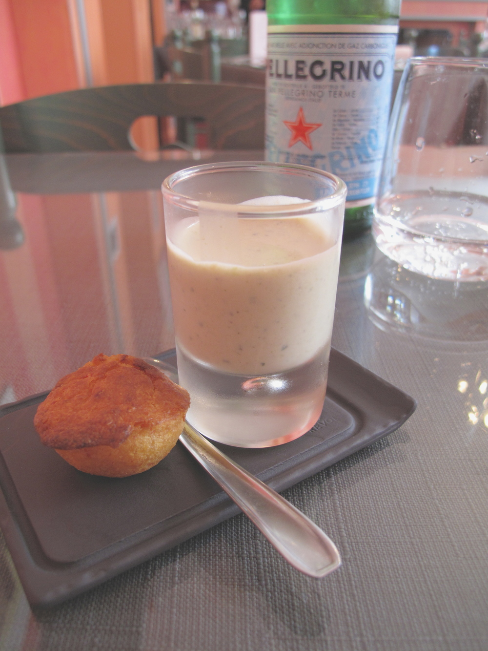 An amuse bouche at La Table Anna, Reims