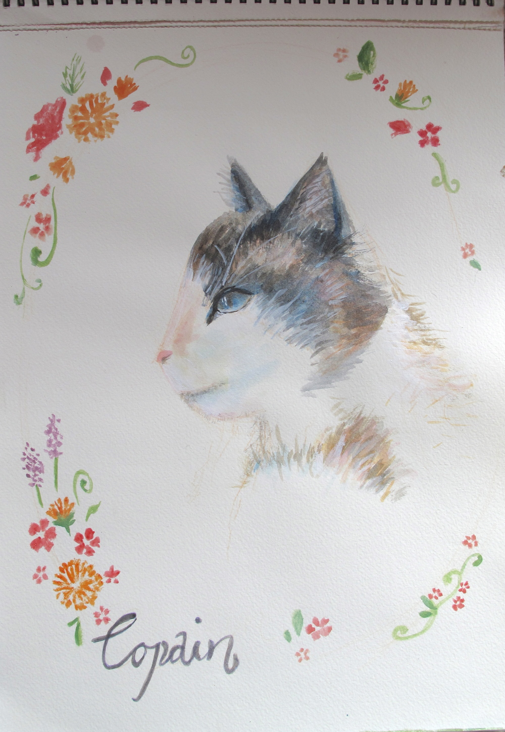 Copain the cat - painting by Zoe