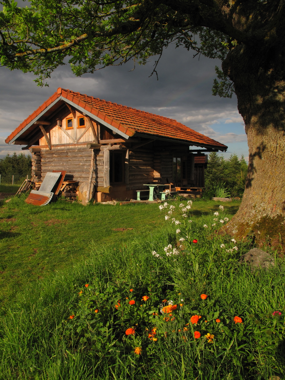 My little log cabin at Brenazet, in France
