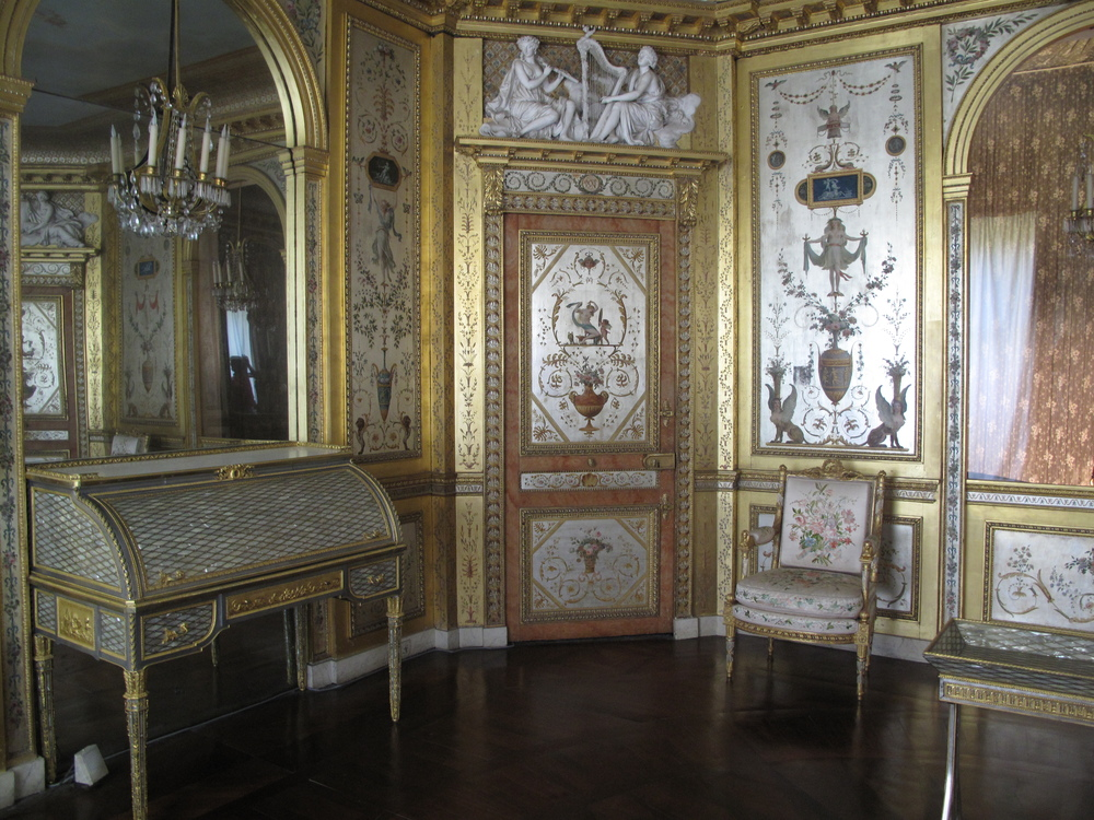 Fontainebleau Palace inside the rooms