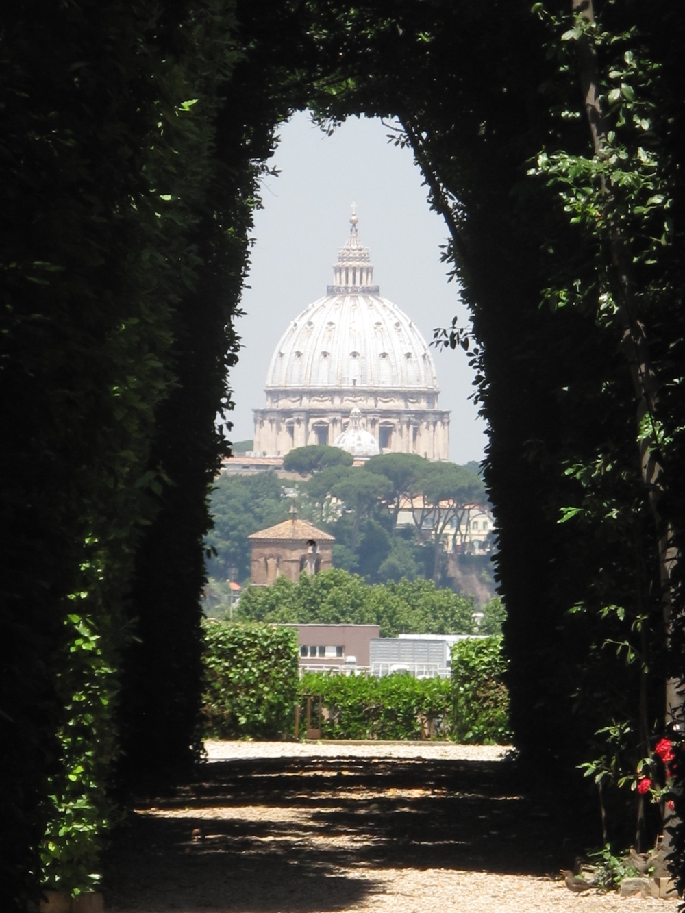 View of St Peters through the knights of malta keyhole, Rome