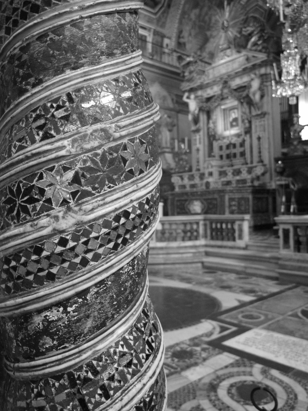 Pillar in the Basilica di Santa Maria Maggiore