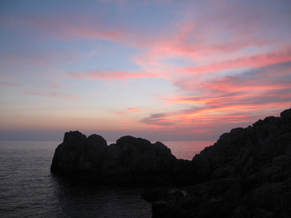 Sunset over Anacapri island
