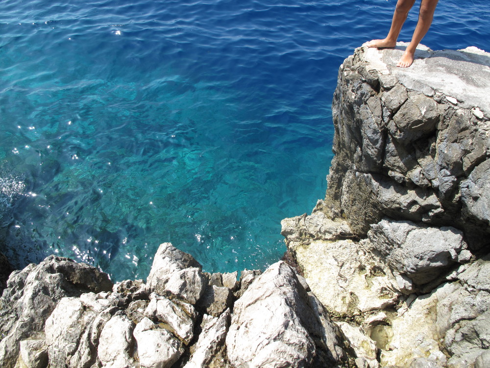 The blue seas near the Blue Grotto cave