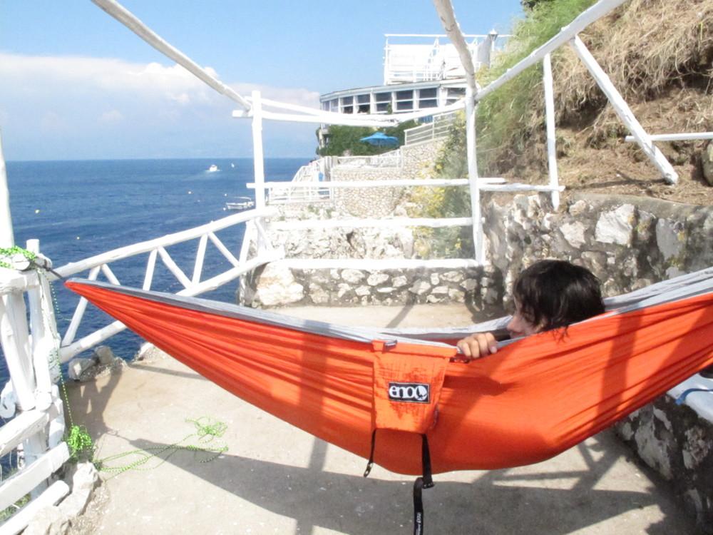 Hammock-ing in Capri.