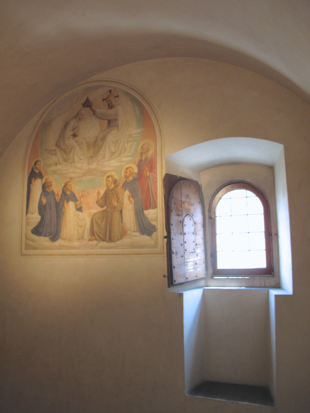 Monks cells painted by Fra Angelico in San Marco convent, Florence