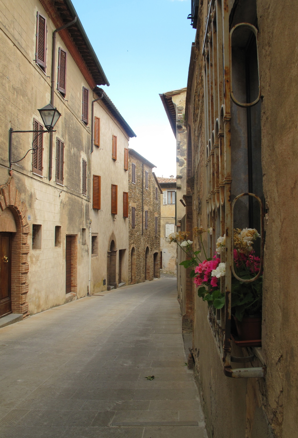 Streets of Montalcino hilltop Tuscan village