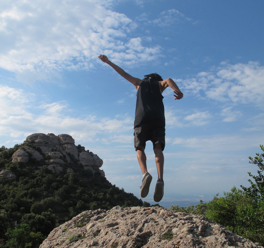 Let's be adventurers - climbing Montserrat