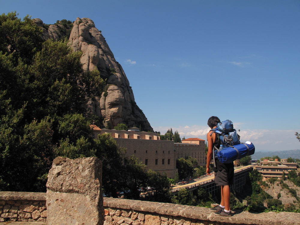 Walking Montserrat mountain trails, above the monastery.