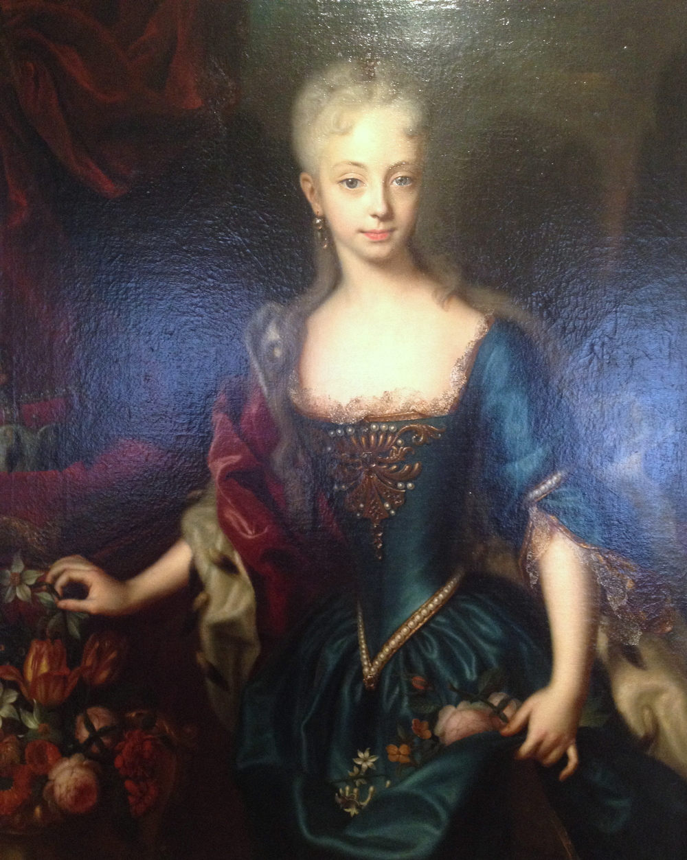 Queen Maria Theresia, when she is younger - painted portrait at the Schloss Ambras in Innsbruck
