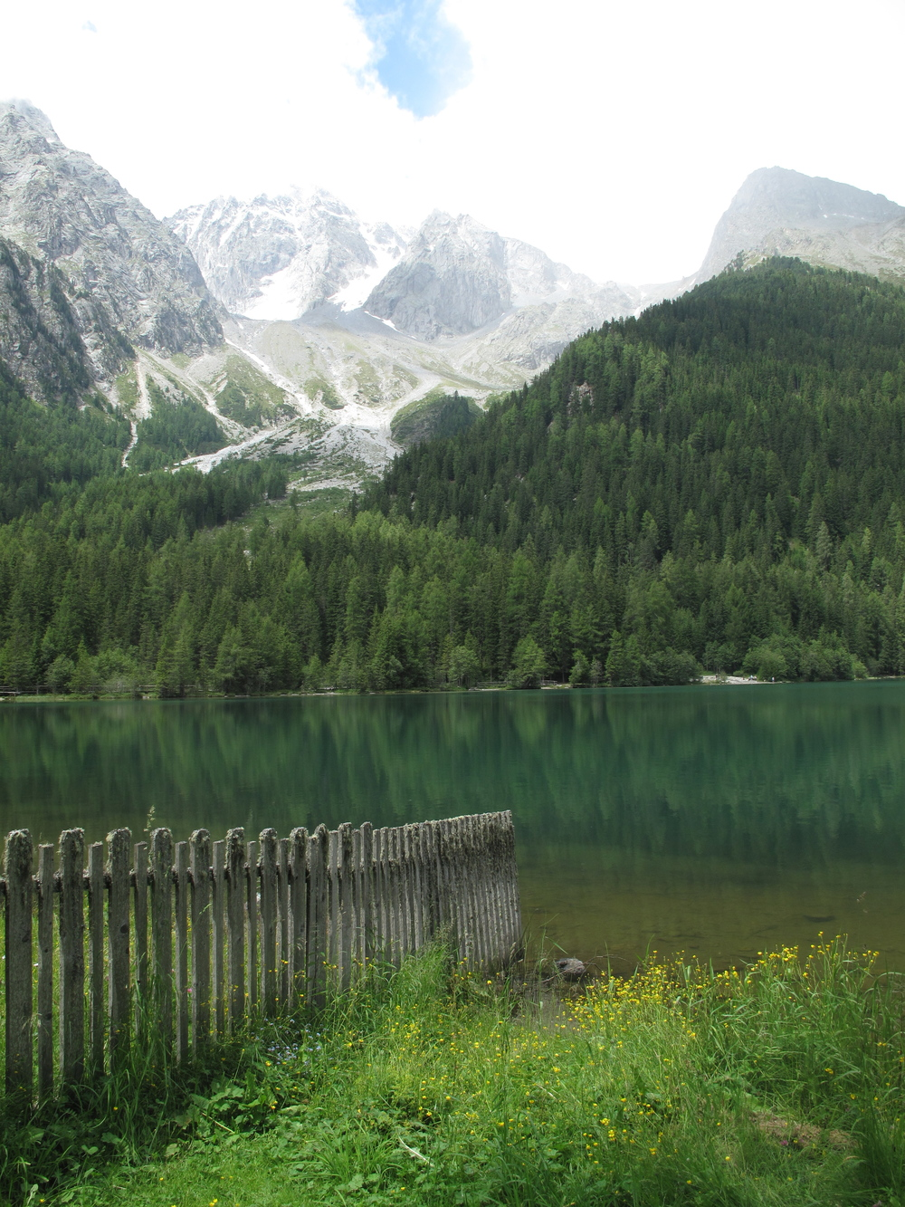 A turquoise lake in the Tyrol Valley, Austria.