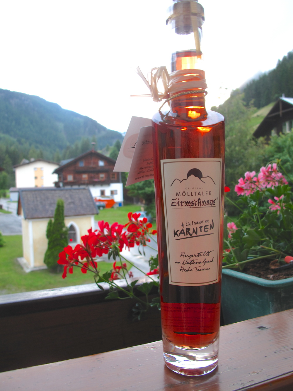 Austrian schnapps made from mountain berries.