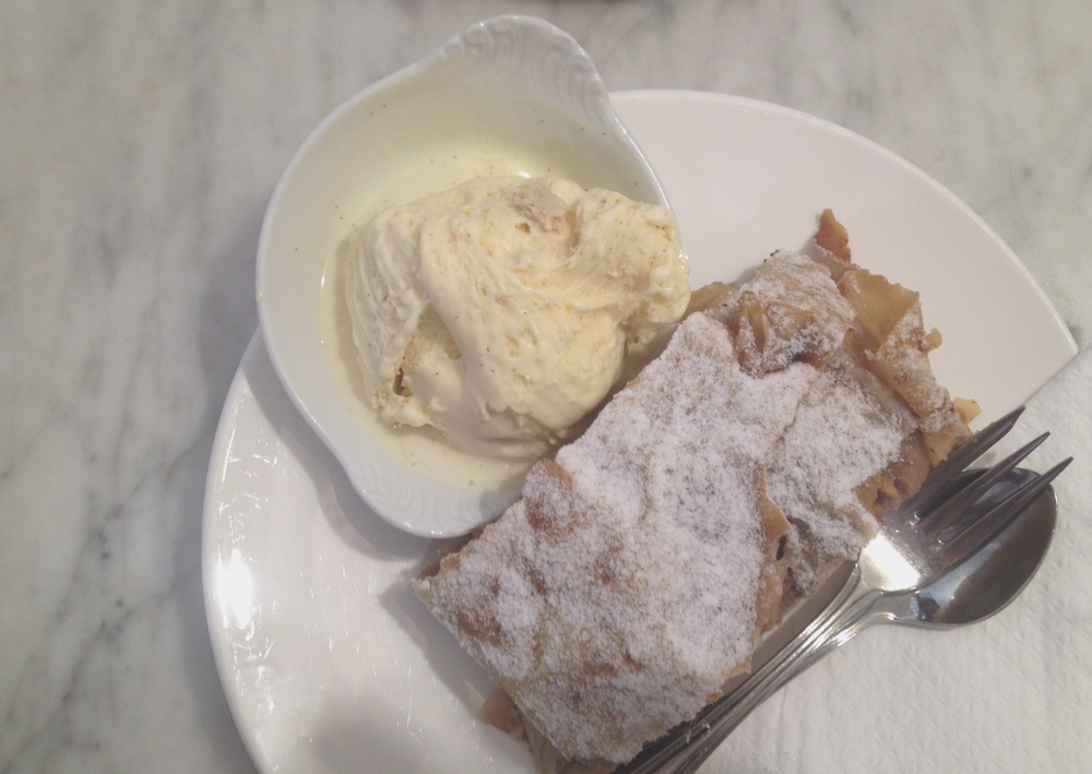 The best apple strudel in the world - from Munding in Innsbruck.