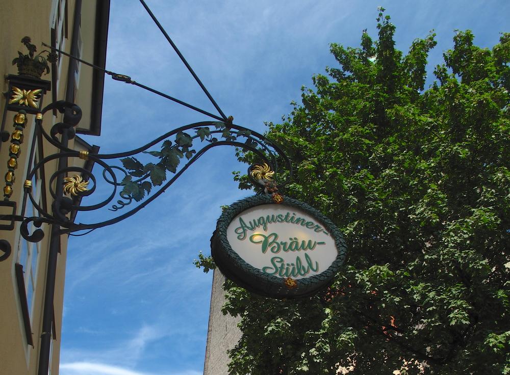 Augustiner Beer Garden, Salzburg.