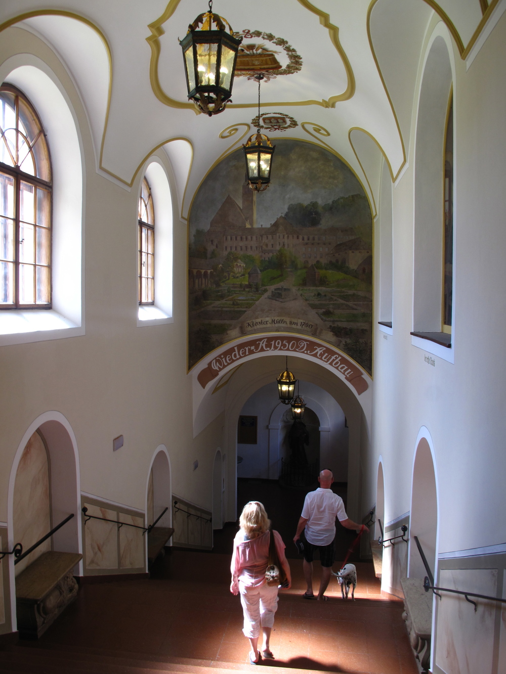 Inside the monastery of the Augustiner Beer Garden, Salzburg.