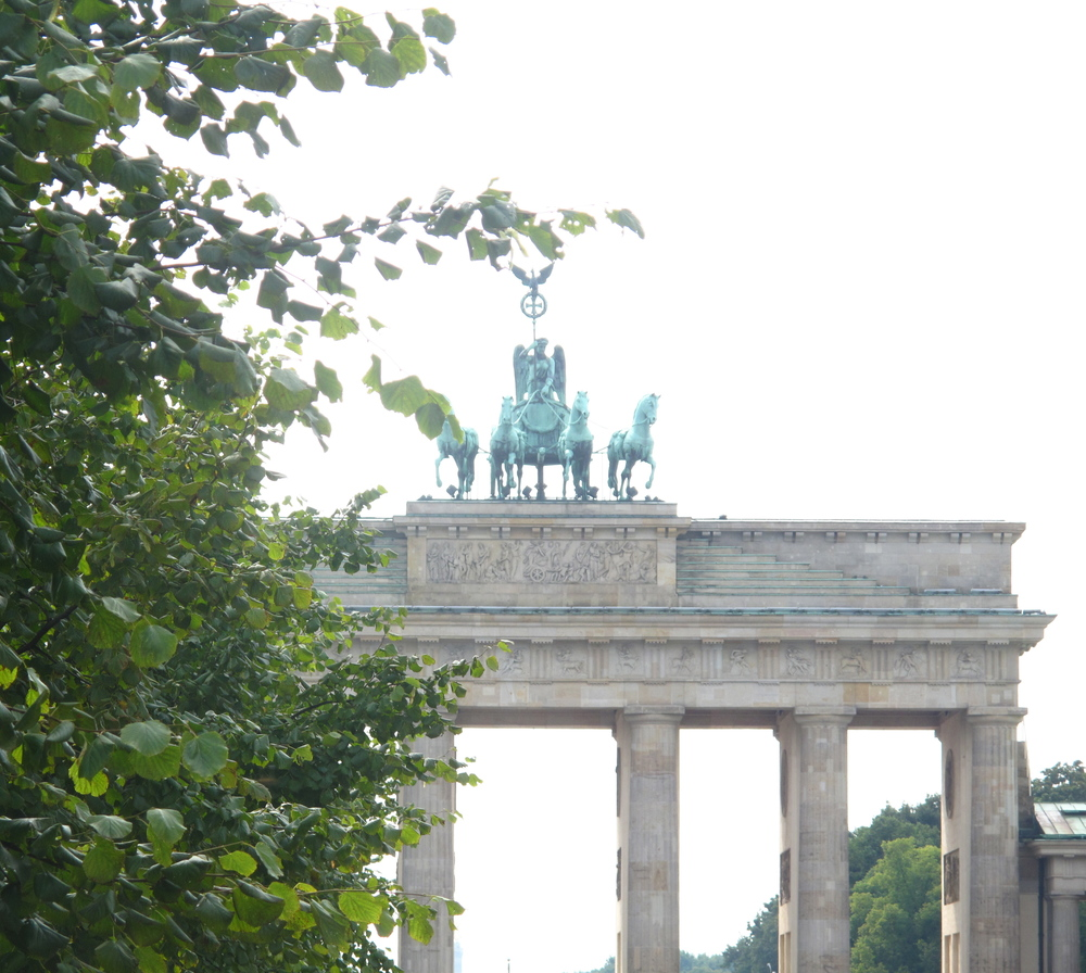 Brandenburg Gate, Berlin in the spring.