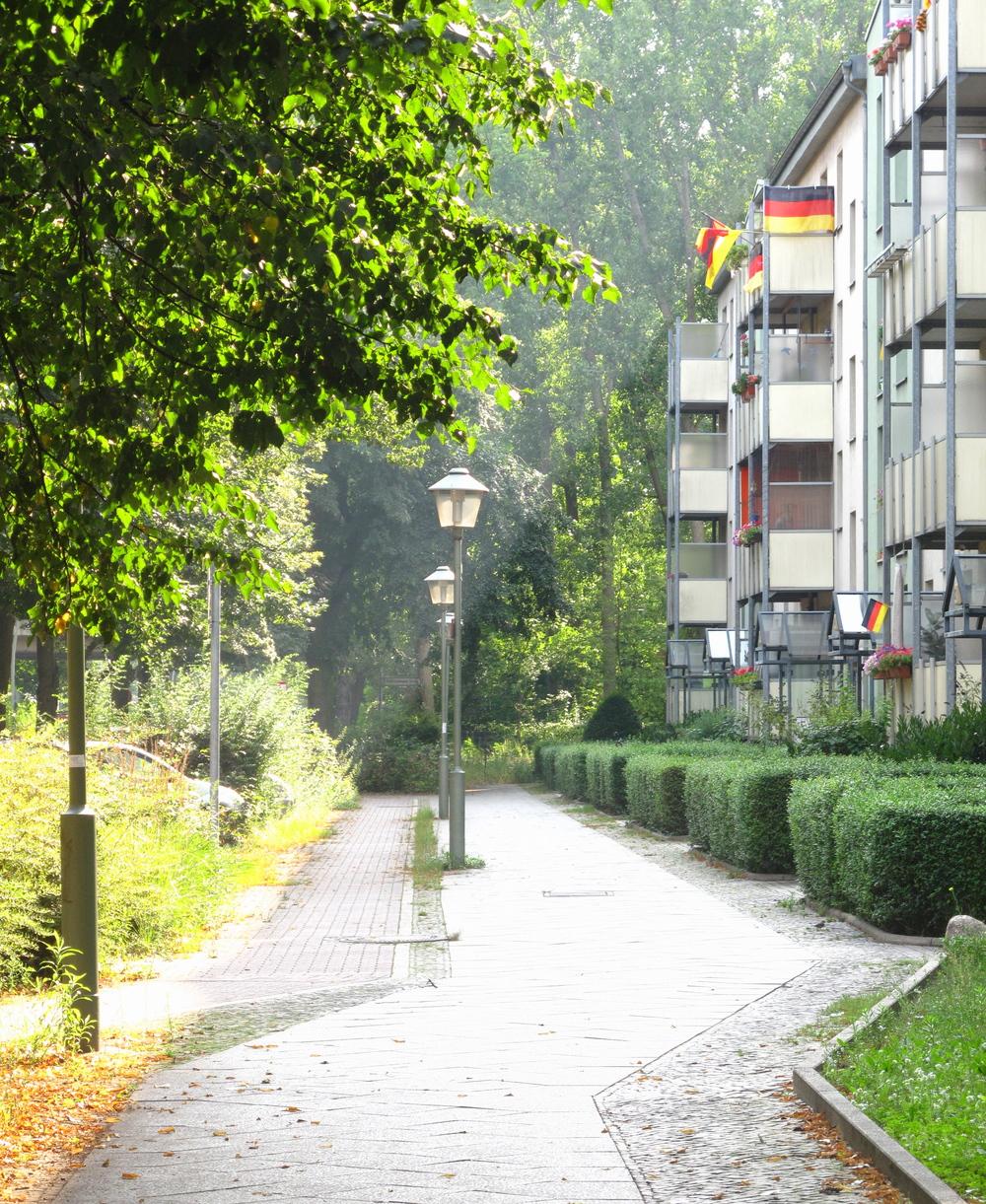 The suburbs of Berlin near Spree Park