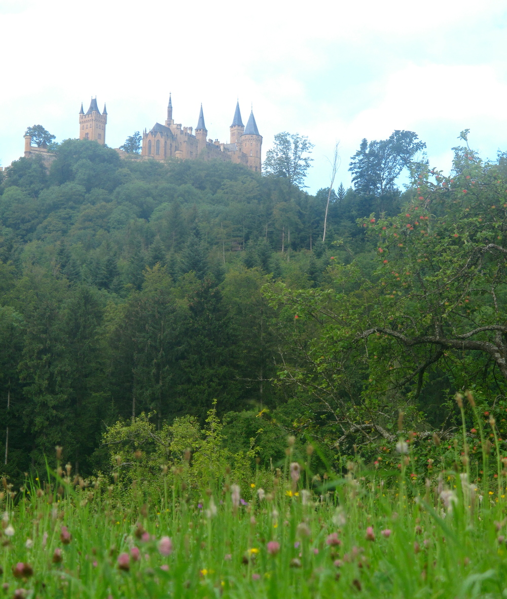 Castle on the hill - Hohenzollern Castle in Germany.