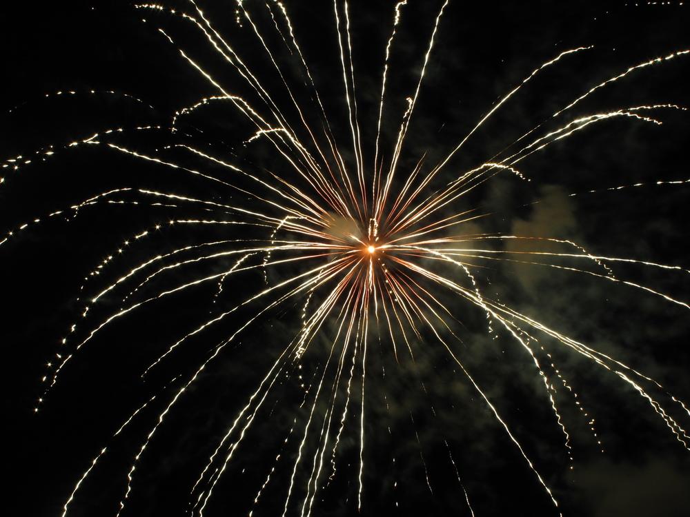 White fireworks burst - France.