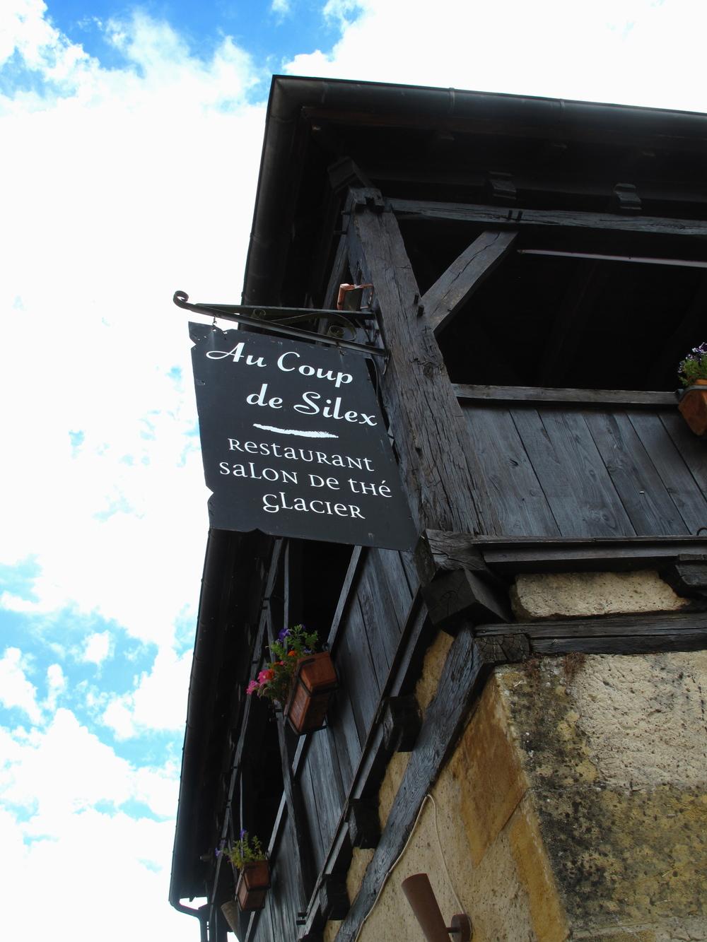 Au Coup de Silex restaurant in Les Eyzies de Tayac.