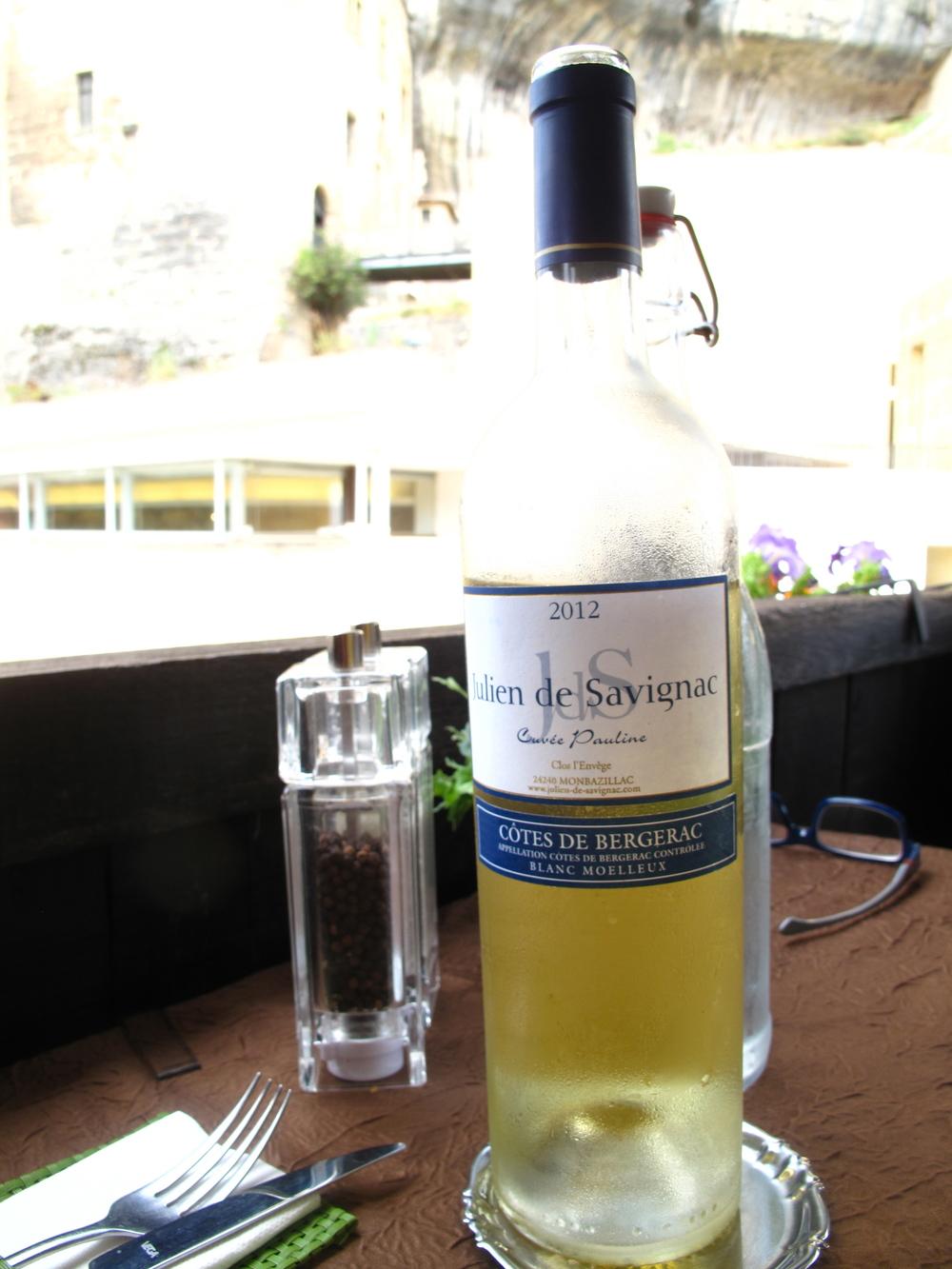 Cotes du Bergerac white wine.