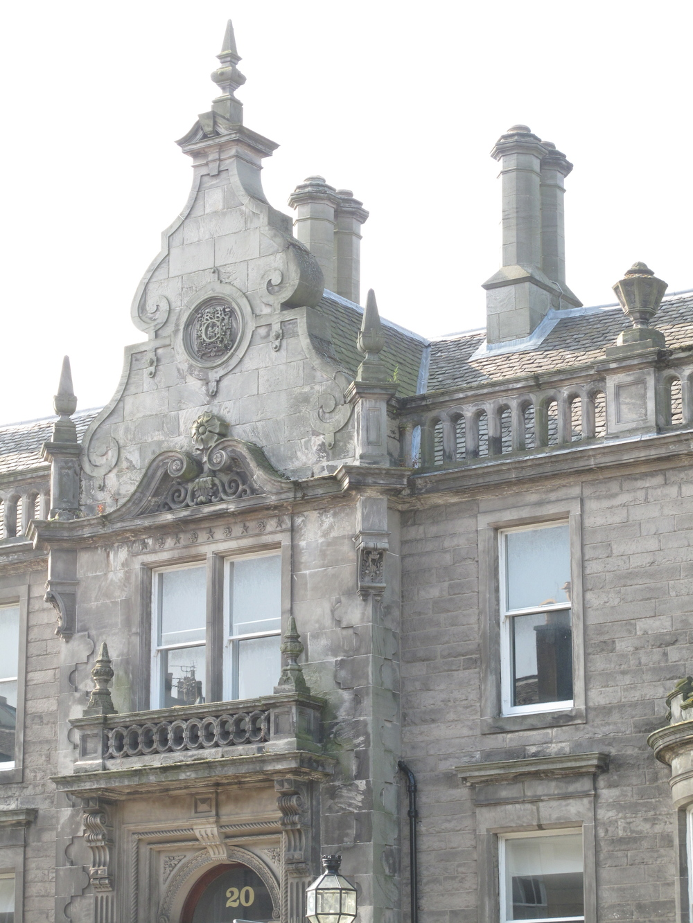 Edinburgh stone architecture.