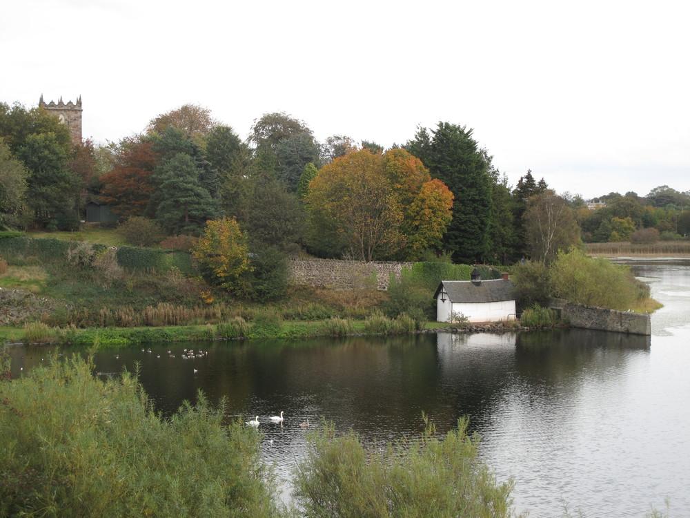 Duddingston Loch - lake in autumn.