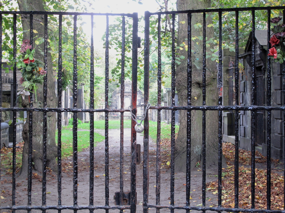 Gates to the Covenanter's Prison at Greyfriars Kirkyard.