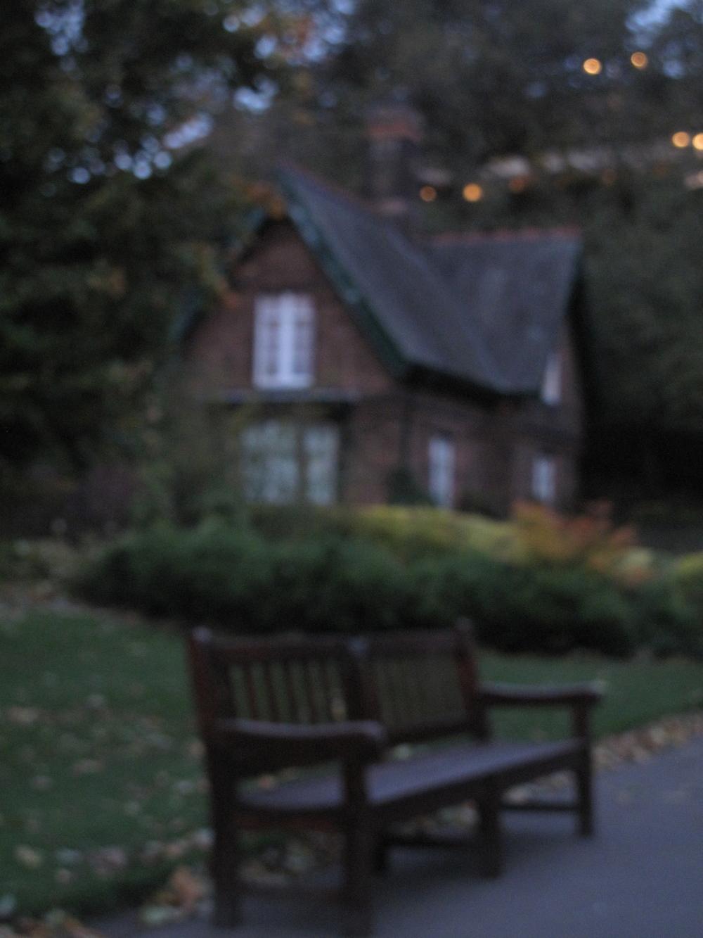 Princes Street Gardens at dusk - blurry photography.