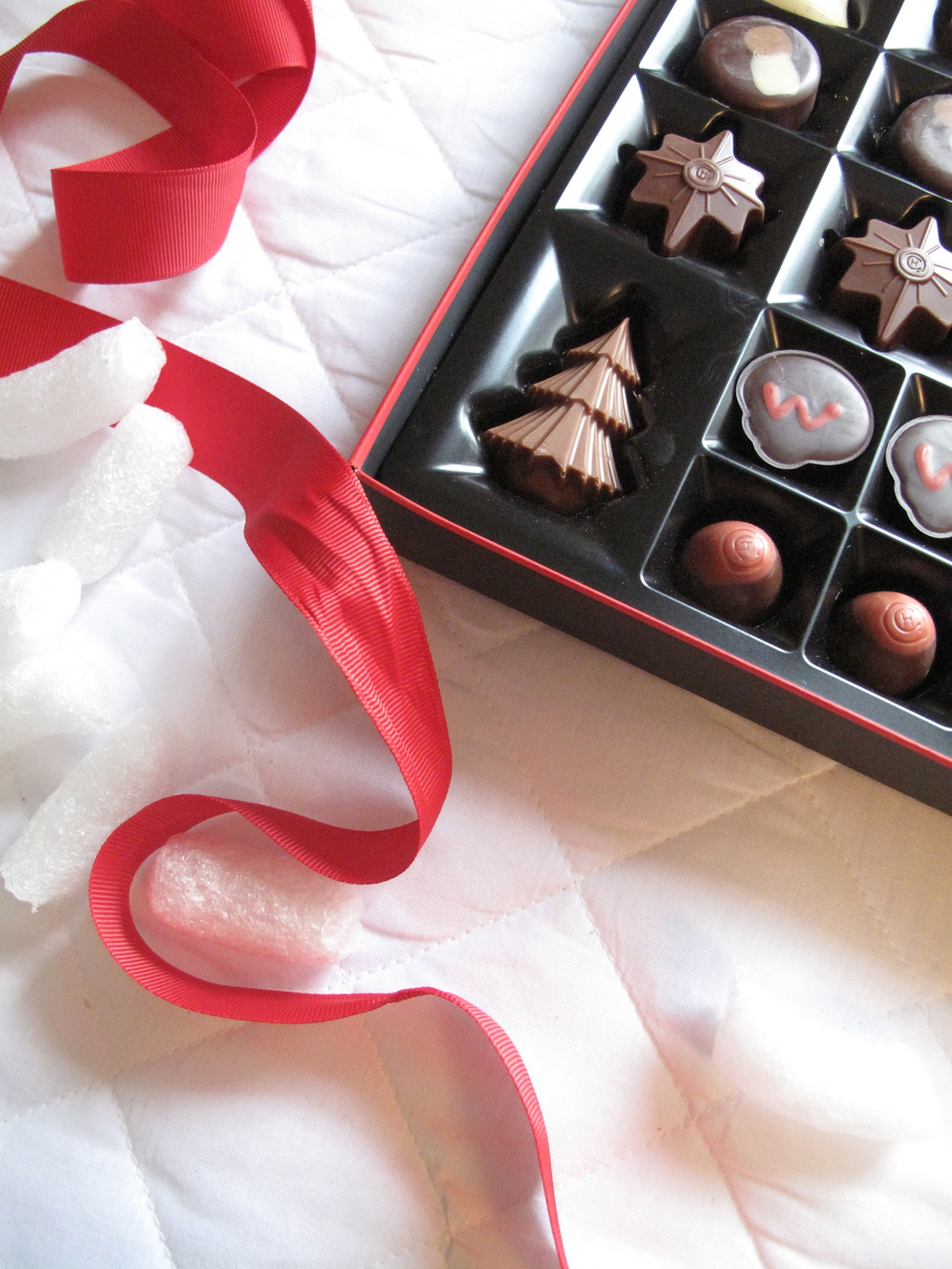 Luxury christmas chocolate box.