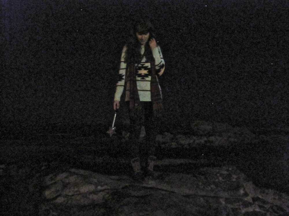 Me, in the dark with a wand.