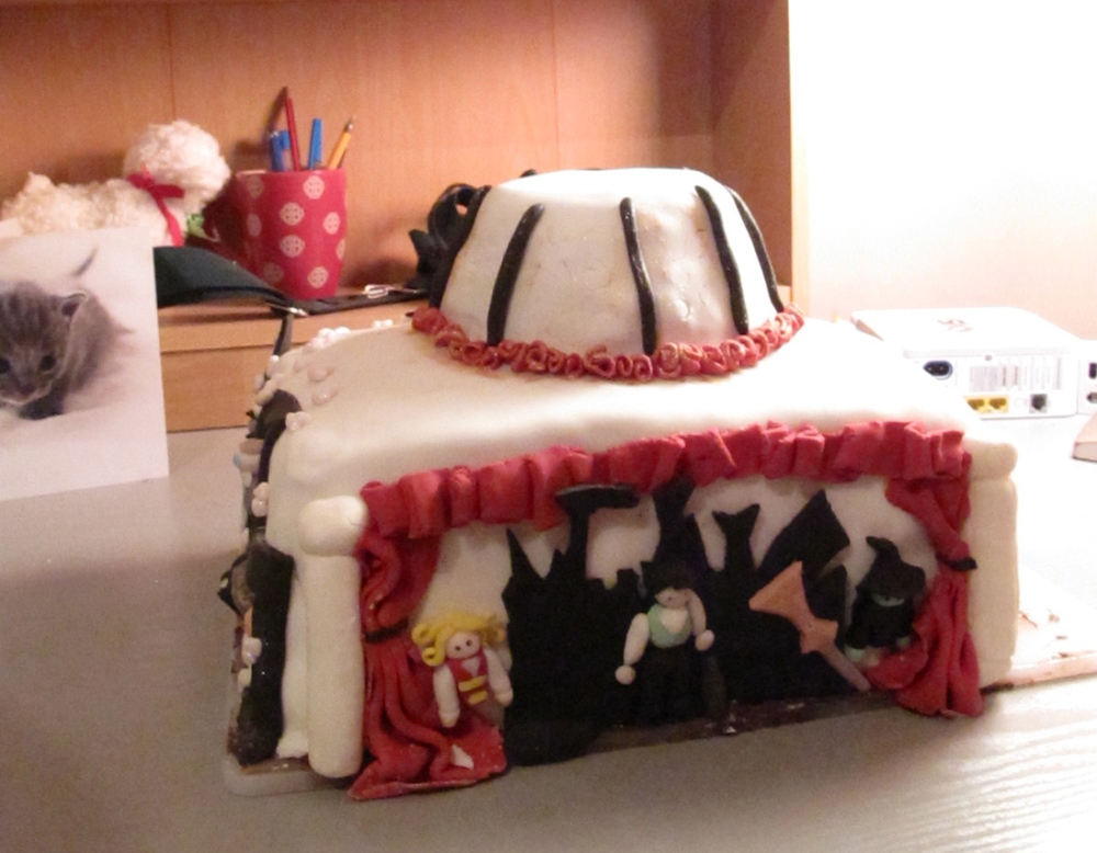 Epic musicals themed cake