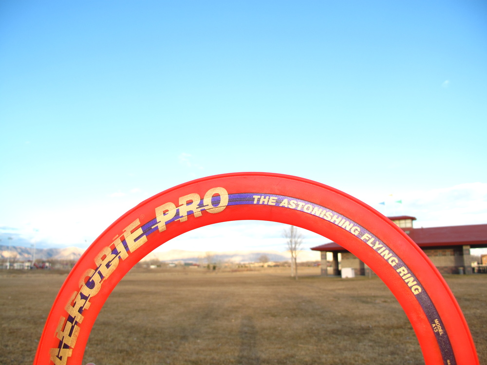 Aerobie pro frisbee.