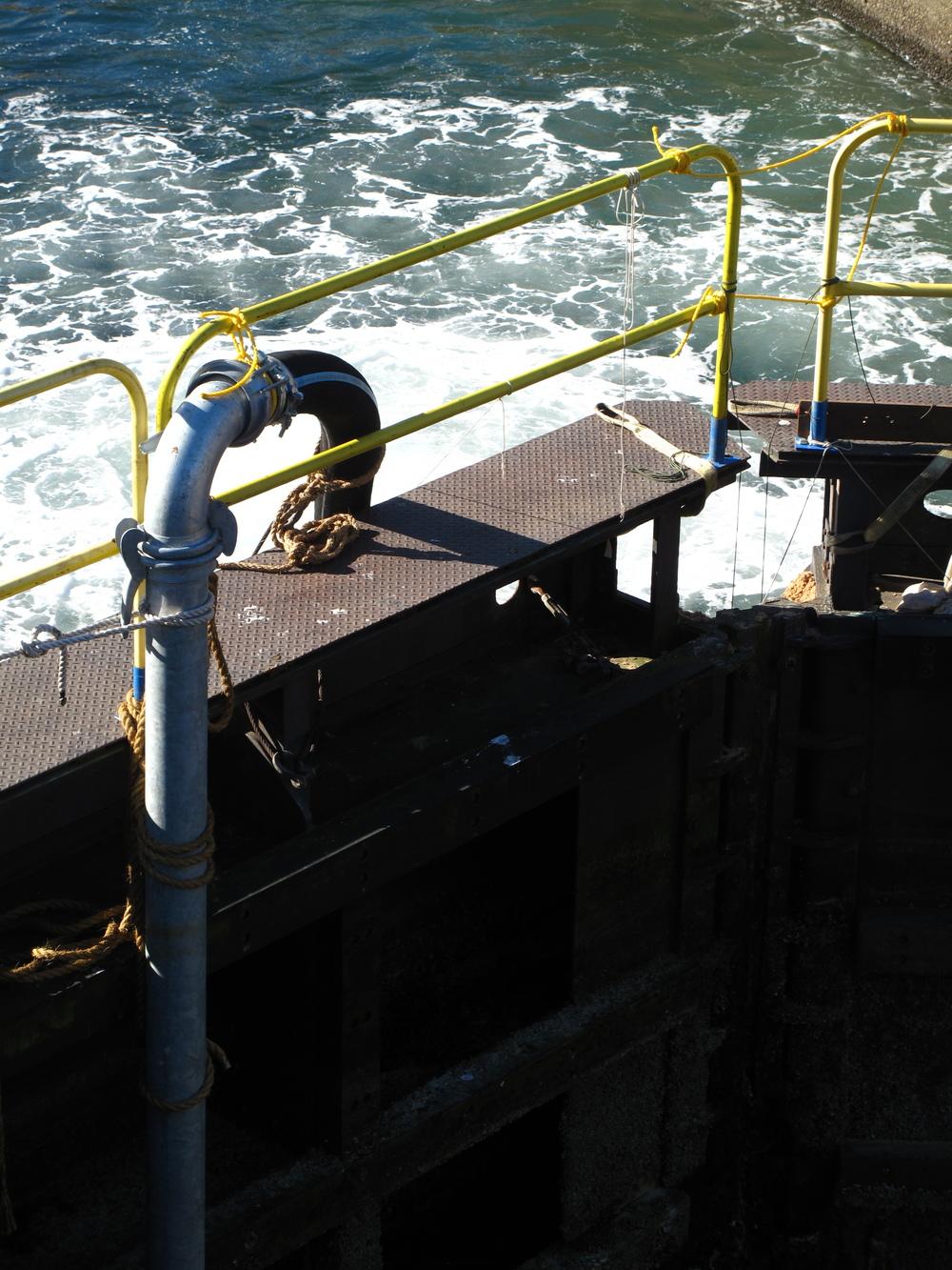 The Locks working gates in Seattle, WA.