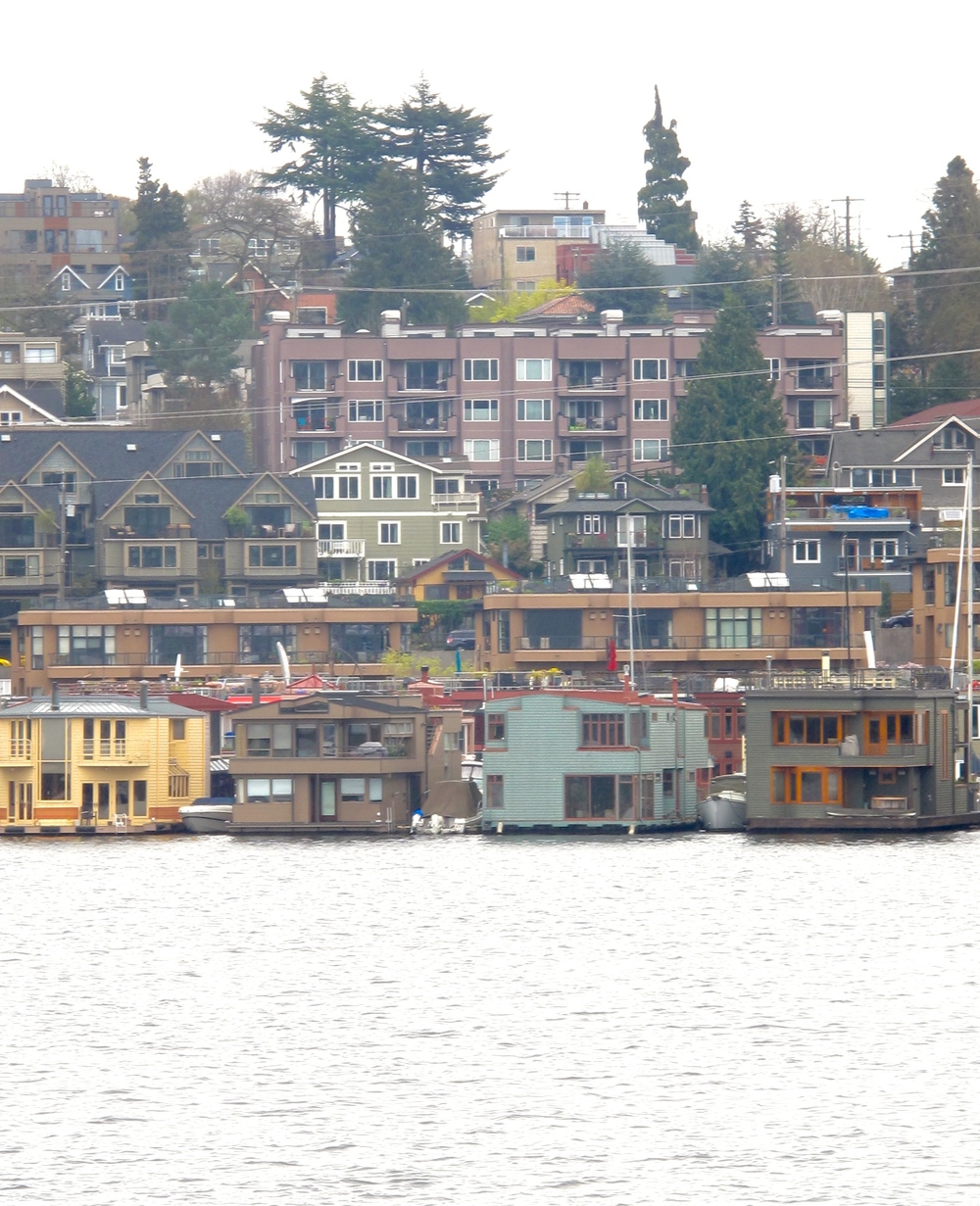 Houseboats on the water, Seattle.