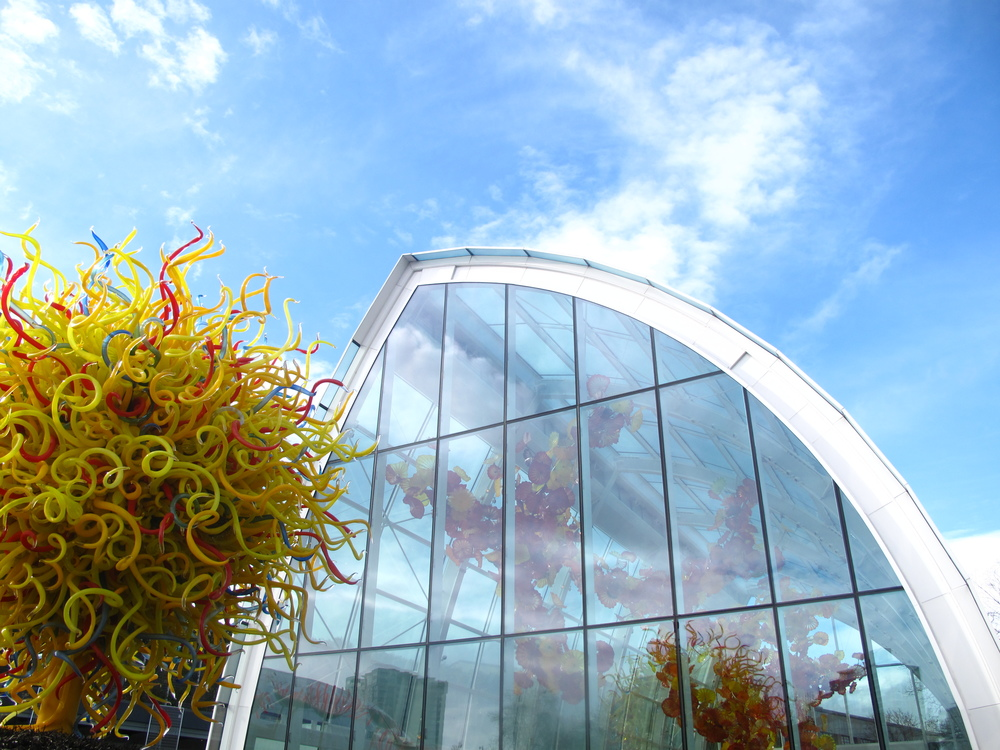 Chihuly Museum and gardens - the glasshouse.