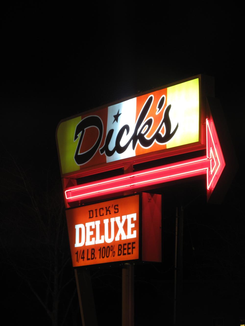 Dick's Burgers sign in Seattle WA.