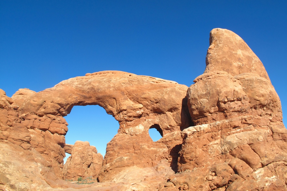 Windows arches in the national park, Utah.