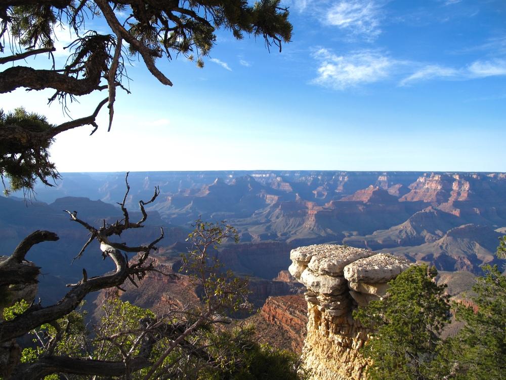 The Grand Canyon ledge.