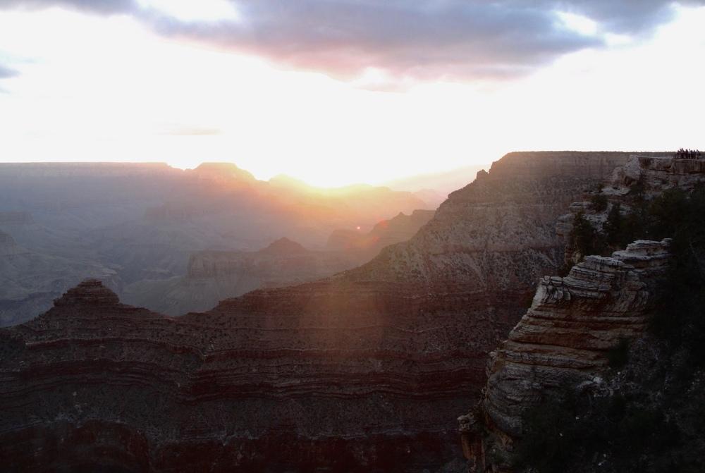 Sunset at the Grand Canyon - pink hues.