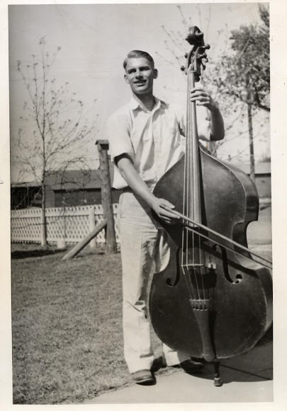 Great grandpa William Huestis playing the Cello.