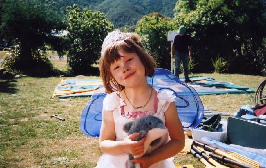 My sister Rachel as a little kid.